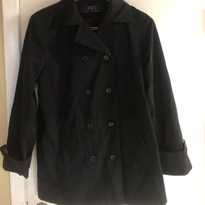 Black light weight trench coat